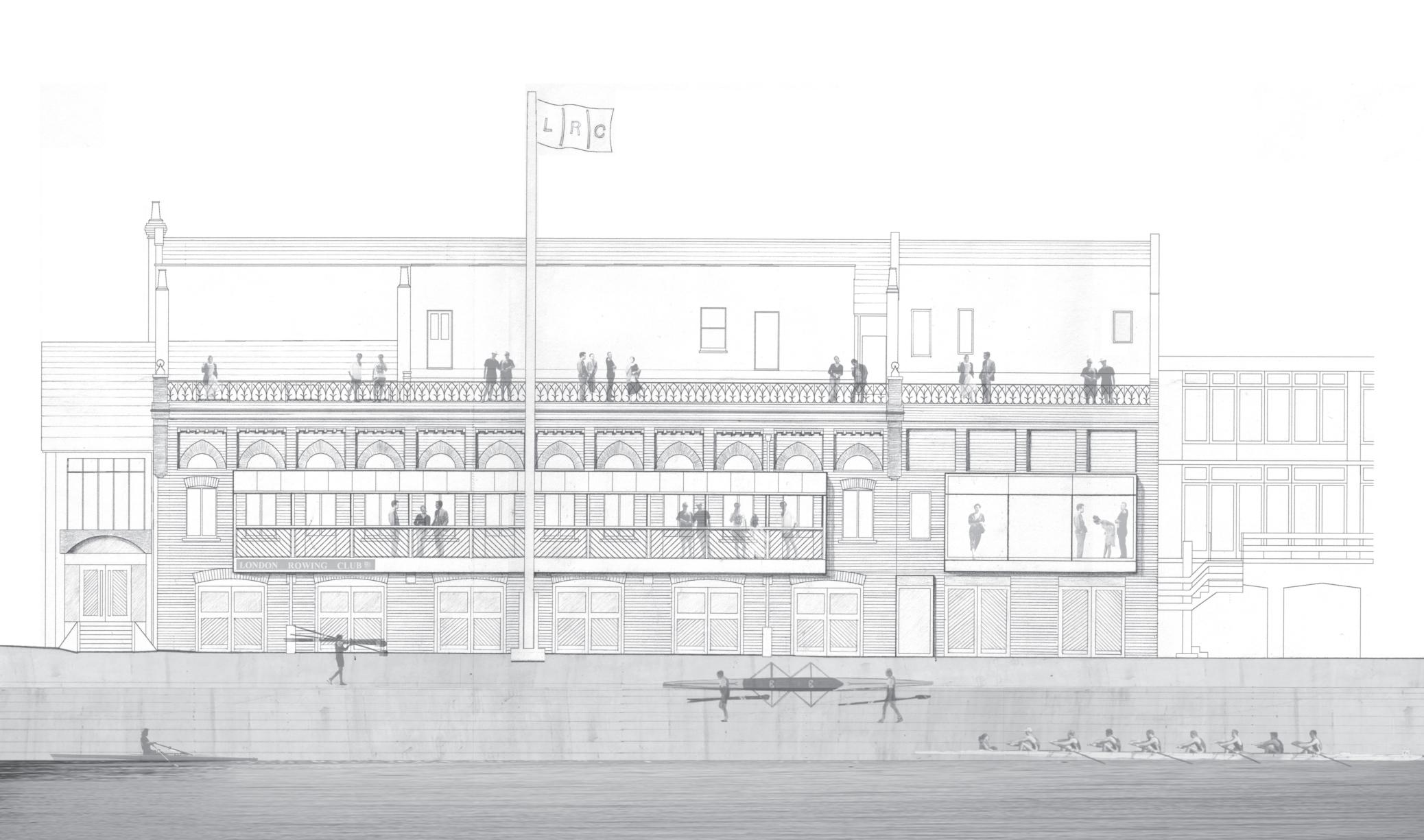 London Rowing Club sketch 1