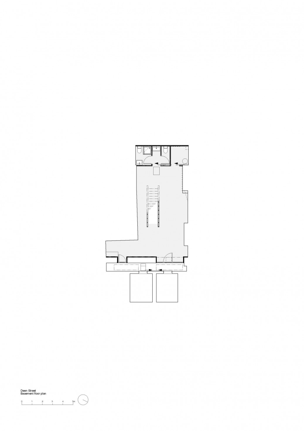 Dean Street basement floor plan
