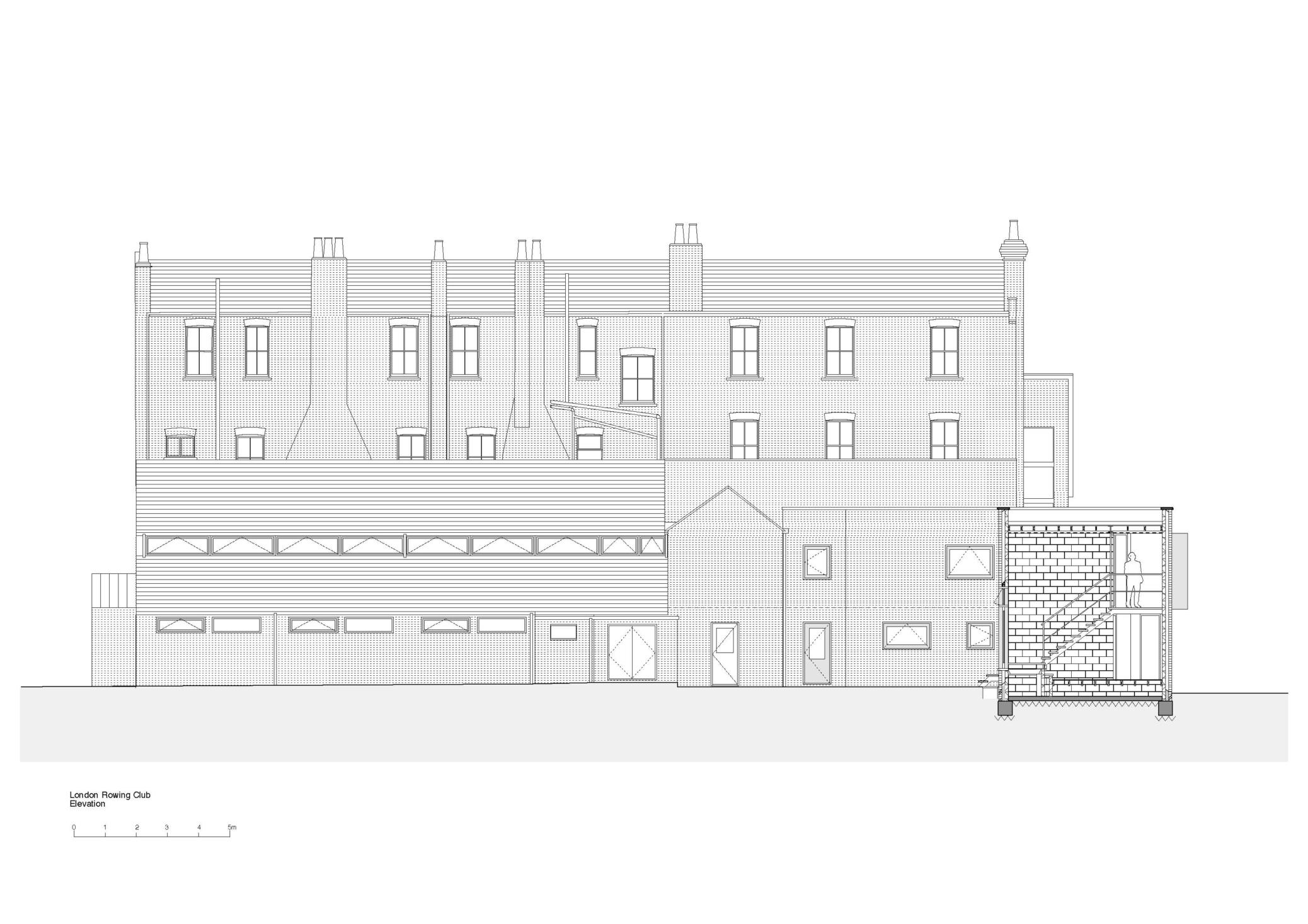 London Rowing Club elevation