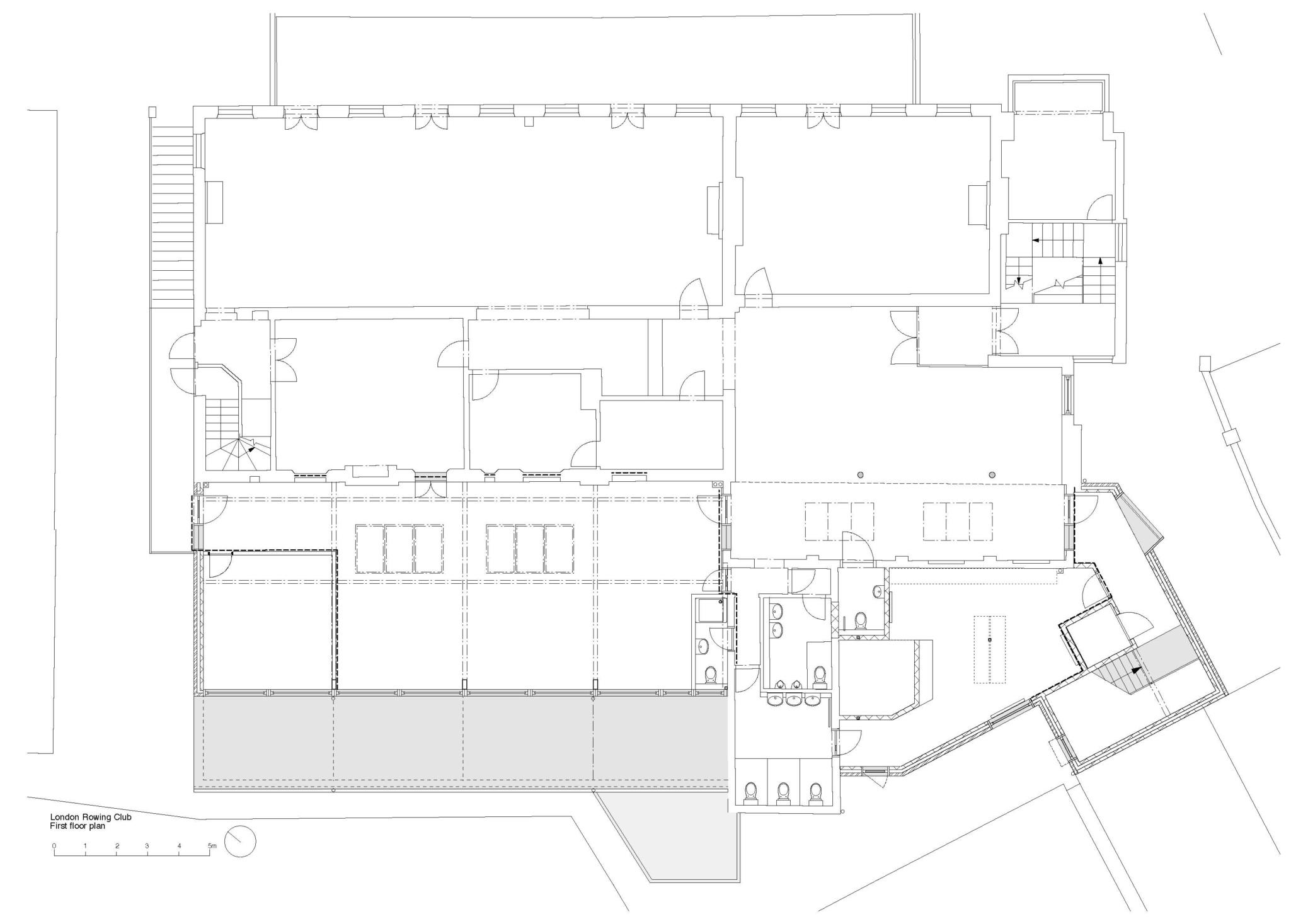 London Rowing Club first floor plan