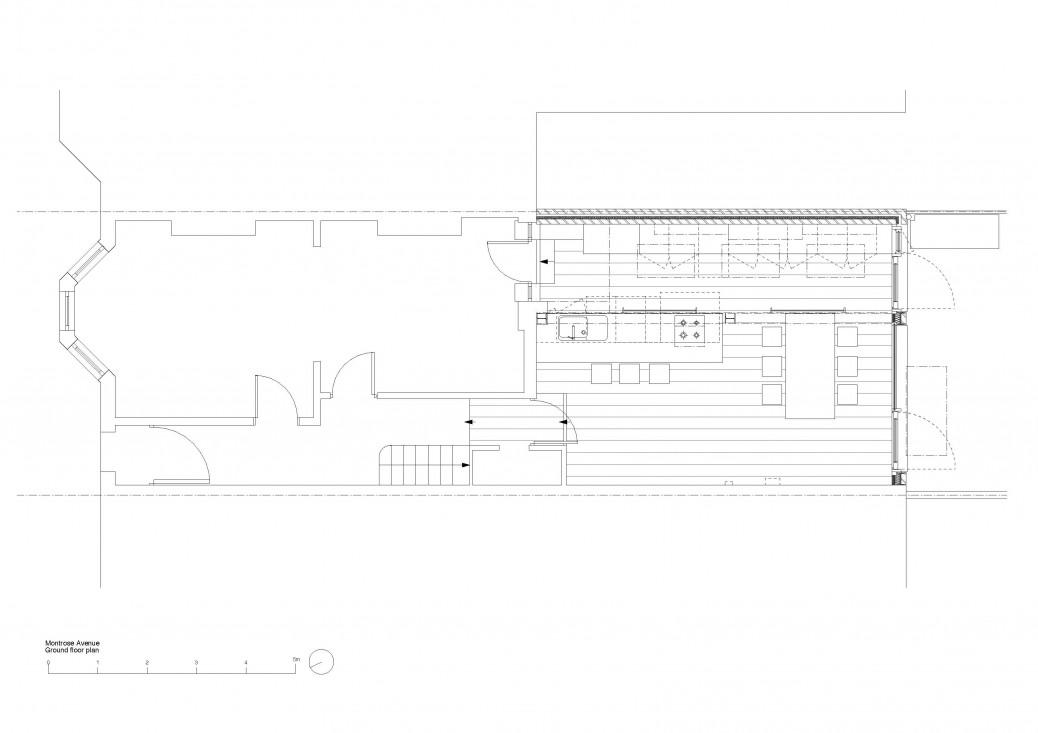 Montrose Avenue ground floor plan