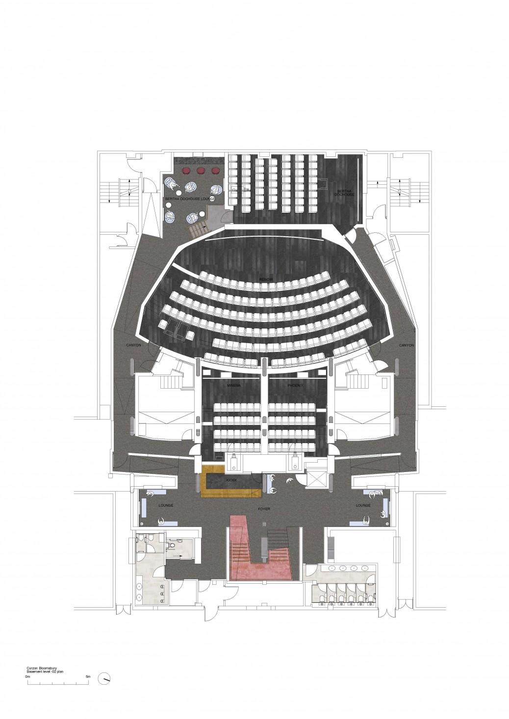 Curzon Bloomsbury_basement level -02 plan