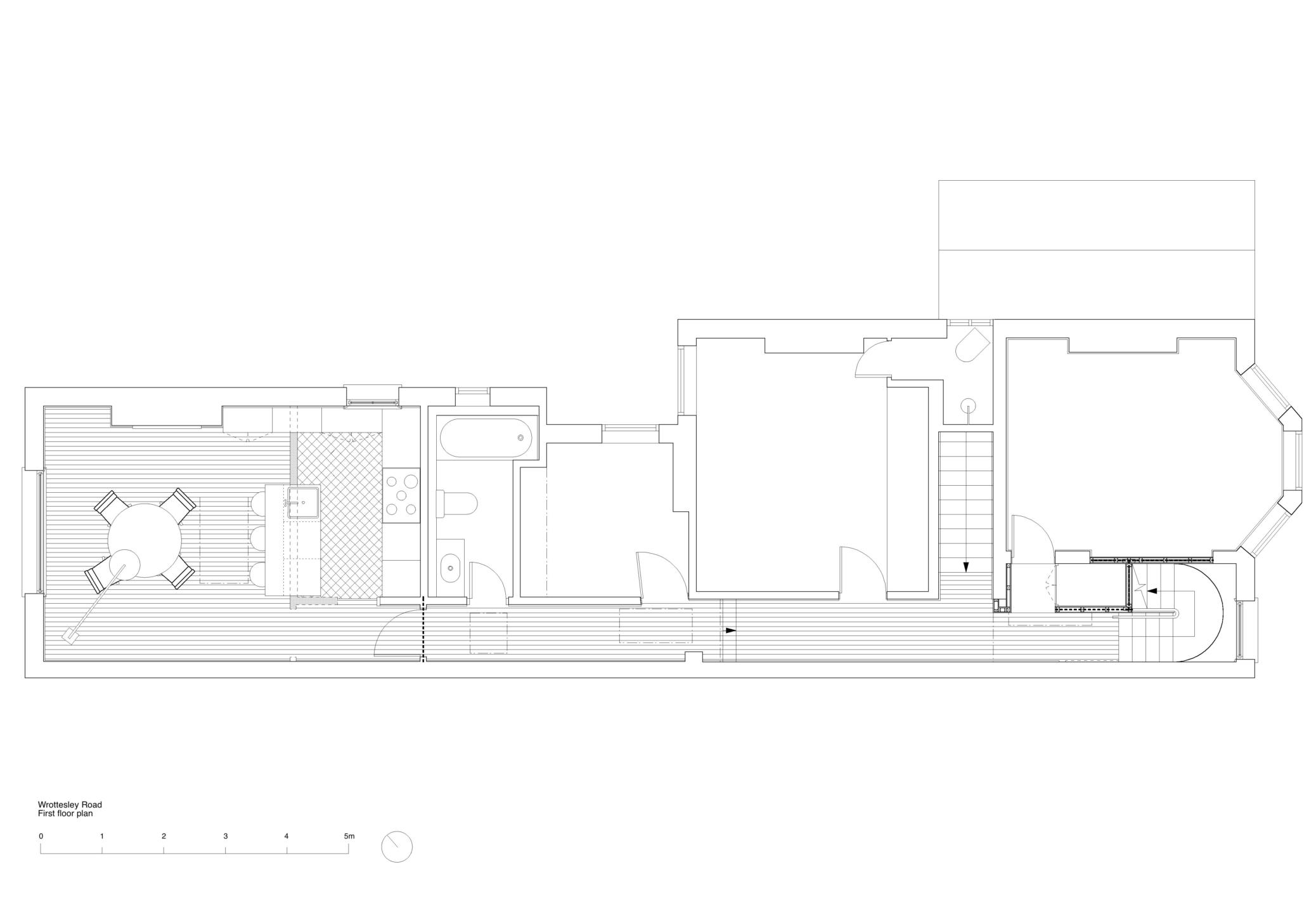 Wrottesley Road first floor plan