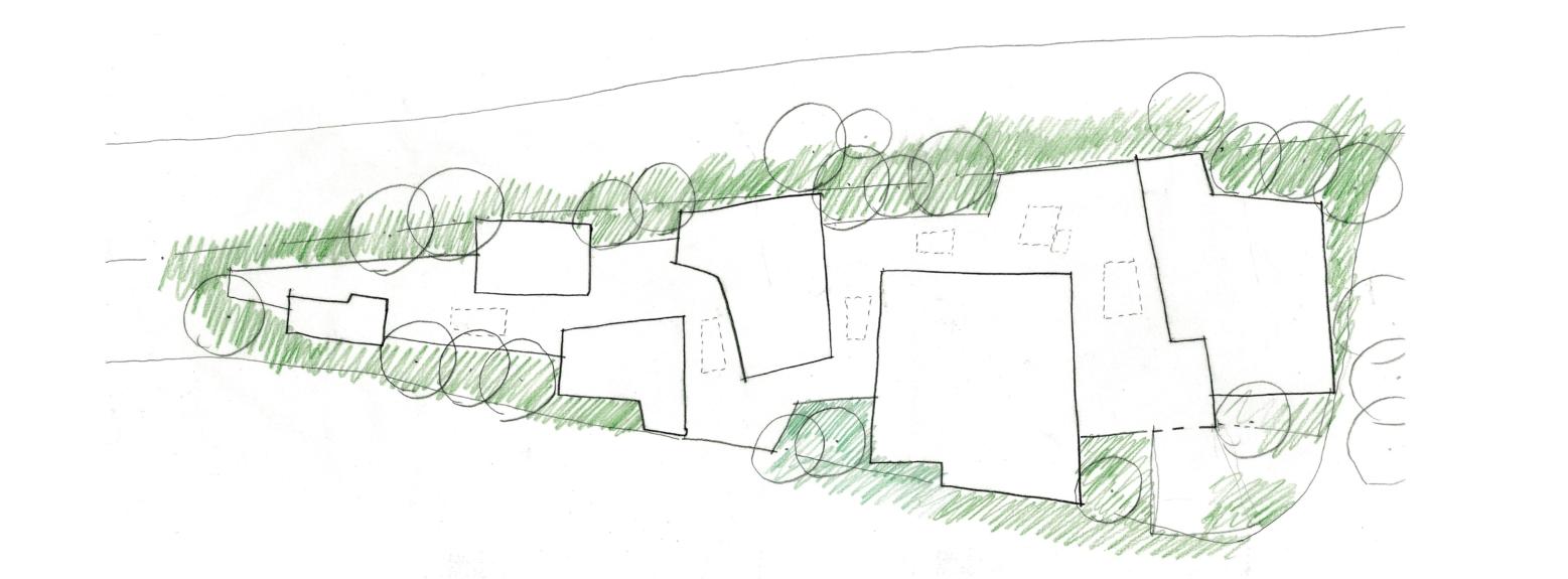 Music School for Stowe School plan sketch 2