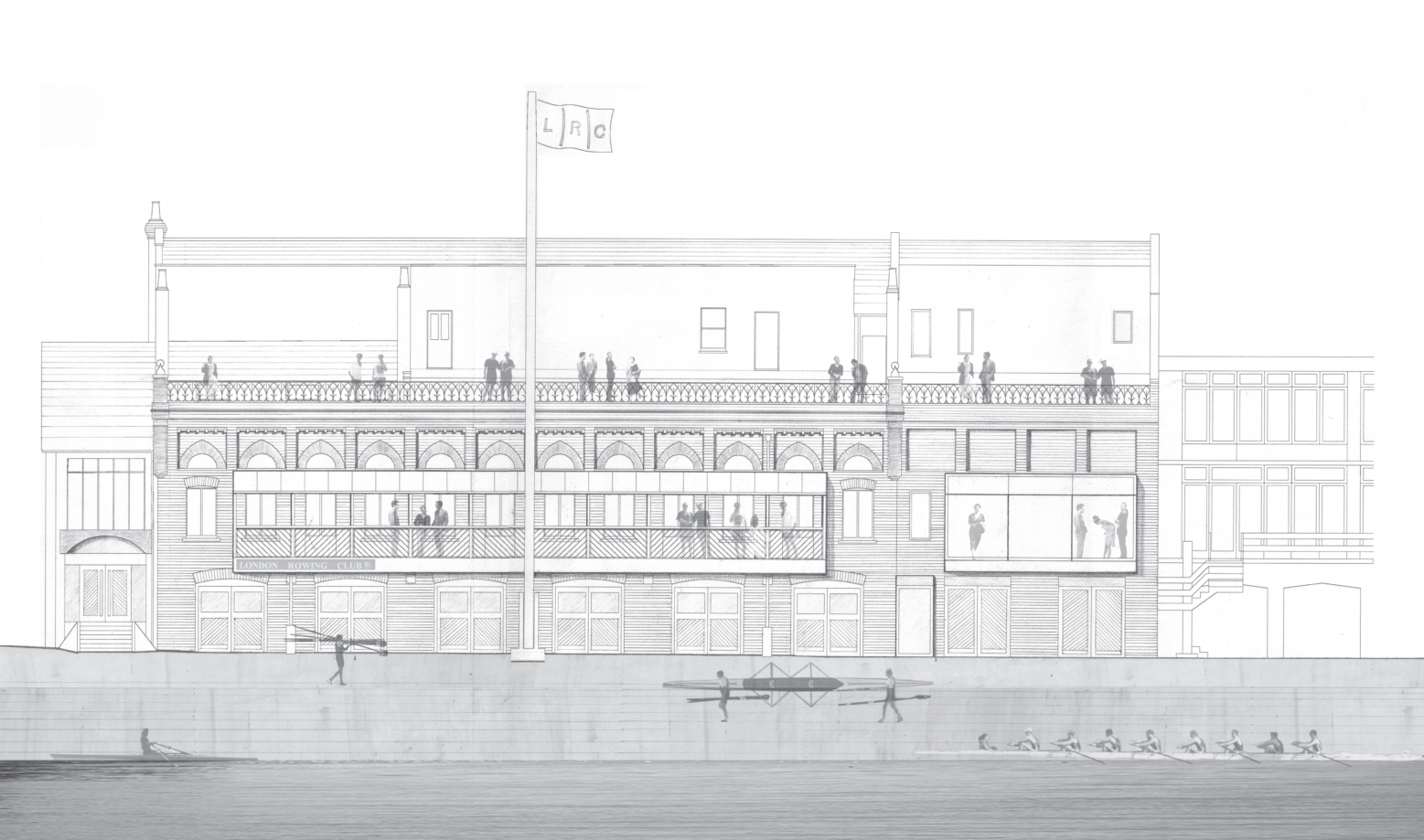 London Rowing Club sketch 1