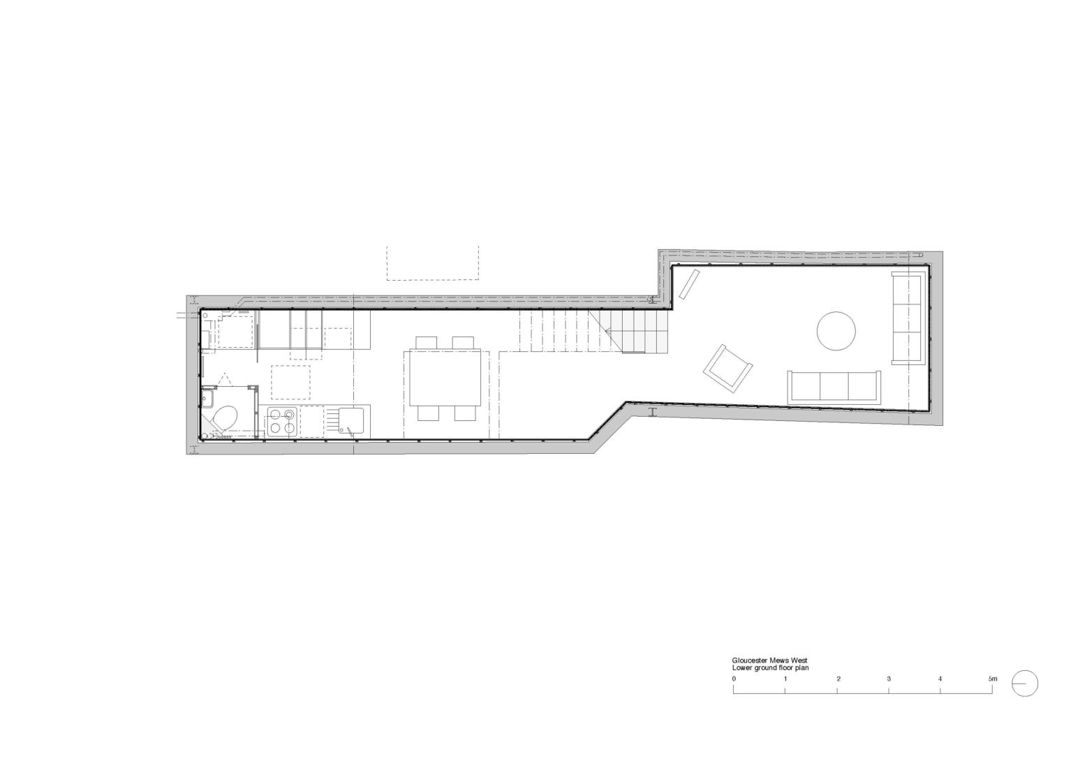 Gloucester Mews West lower ground floor plan