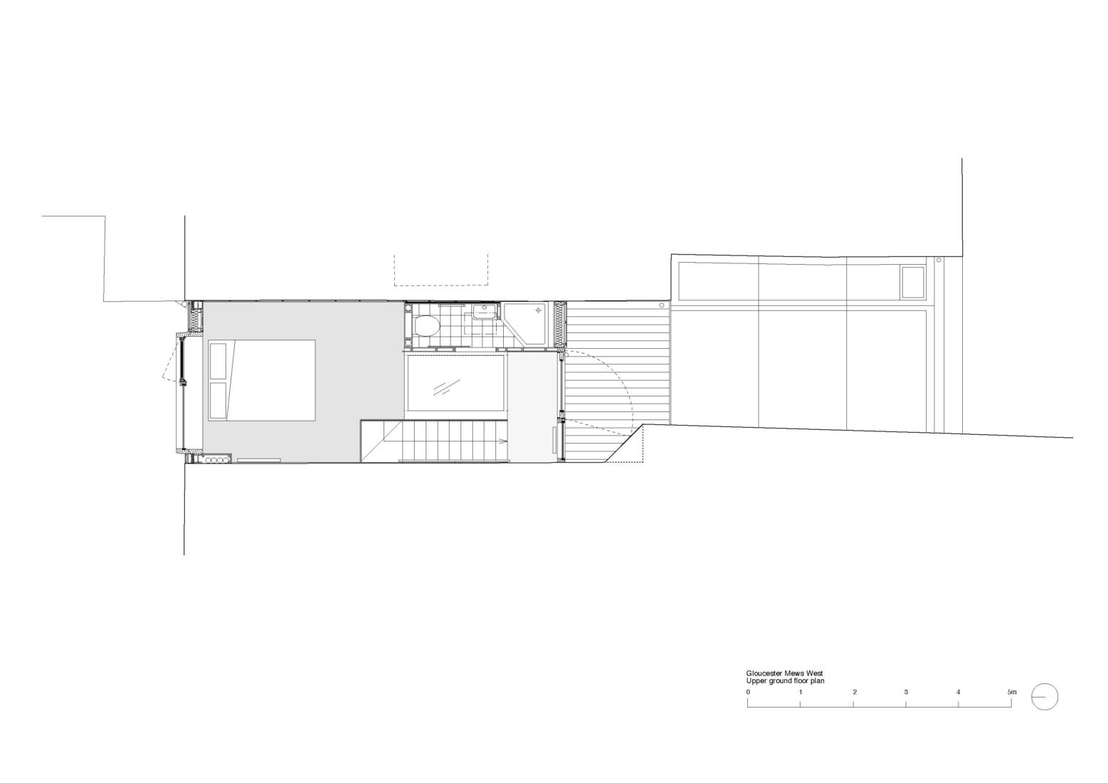 Gloucester Mews West upper ground floor plan